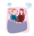couple in bed happy family couple vector image