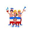 croatians with croatia flag symbol vector image vector image