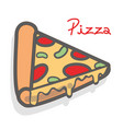delicious pizza fast food icon vector image vector image