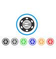 digital casino chip icon vector image vector image