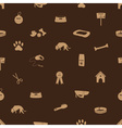 dog icons seamless brown pattern eps10 vector image vector image