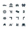 economy icons set vector image vector image