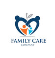 family education love care logo designs vector image vector image