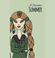 female beauty summer style for your design vector image
