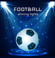 football ball soccer ball on blue background in vector image