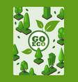 go eco environmental vector image vector image