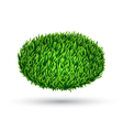Green grass oval with shadow isolated on white vector image vector image
