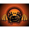 Halloween pumpkin label vector image