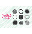 hand made scribble circle vector image vector image