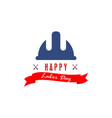 happy labor day usa logo design vector image vector image