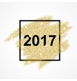 Happy New Year 2017 on gold glitter background vector image vector image