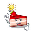 have an idea strawberry cake mascot cartoon vector image vector image