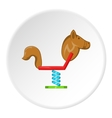 Horse swing icon cartoon style vector image vector image