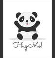 hug me lettering cartoon color postcard vector image