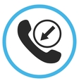 Incoming Call Flat Rounded Icon vector image