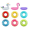 inflatable donuts safety rubber rings toys rings vector image