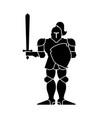 knight icon metal armor warrior iron armor plate vector image vector image