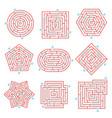 labyrinth brain games set vector image