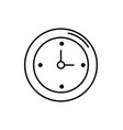line wall clock design to know the time vector image