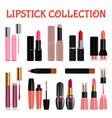 lipstick mockup set realistic style vector image