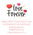 love forever handwritten fonts analog handwriting vector image vector image