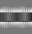 metal brushed texture with vertical brushed planks vector image vector image