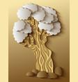 modern volumetric tree vector image vector image