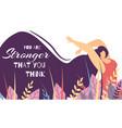 motivational lettering banner woman power strength vector image