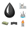 oil industry cartoon icons in set collection for vector image