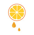 orange icon juice isolated vector image vector image