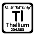 Periodic table element thallium icon vector image vector image