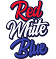 red white blue on white background vector image