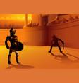 rome gladiators in arena vector image vector image