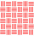 seamless pattern bar horizontal with red line vector image