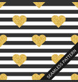 seamless pattern with shiny hearts with glitter on vector image vector image