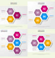 set of business infographics design template vector image vector image