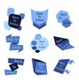 set of nine blue back to school badges vector image
