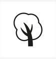 simple minimal black tree icon symbol style vector image vector image
