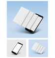 smartphone icon with blank screens vector image vector image