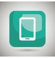 smartphone square button isolated icon design vector image