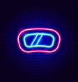 snowboard mask neon sign vector image vector image