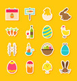 spring easter stickers vector image