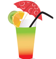Summer cocktail vector image vector image