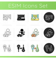 summer sports and camp activities icons set vector image
