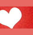the heart puzzle background valentine day love vector image
