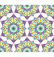 Thin Kaleidoscopic Flower Pattern vector image vector image