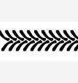 tractor tyre tread marks vector image