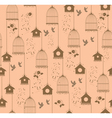 vintage bird house seamless vector image