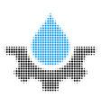 water service halftone icon vector image vector image