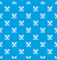 write pen pattern seamless blue vector image vector image